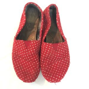Free w/ purchase Toms loafer shoes polkadot